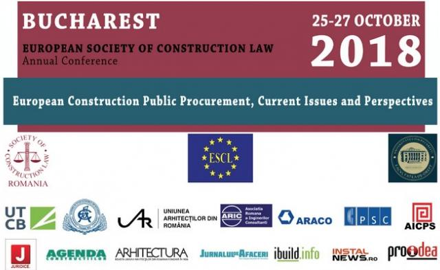 "conferința ""European Society of Construction Law"" 2018"